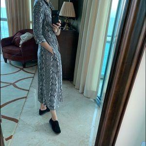 Snake print Zara dress